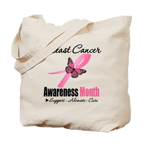 Breast Cancer Month Support Tote Bag