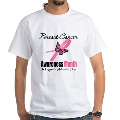 Breast Cancer Month Support White T-Shirt