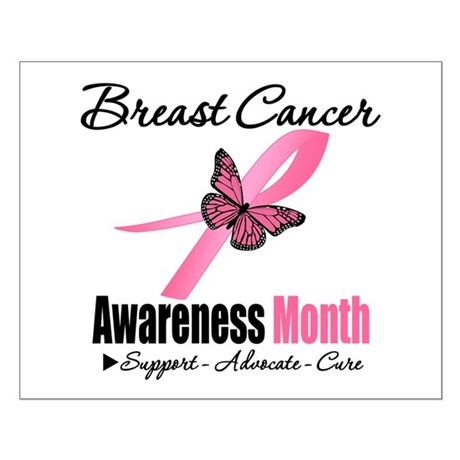 Breast Cancer Month Support Small Poster