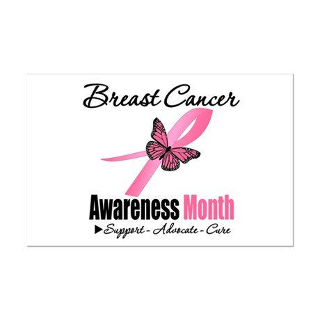 Breast Cancer Month Support Mini Poster Print