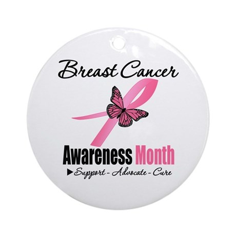 Breast Cancer Month Support Ornament (Round)