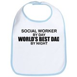 World's Best Dad - Social Worker Bib