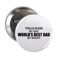 "World's Best Dad - Trucker 2.25"" Button"