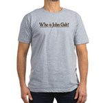 Who is John Galt? Men's Fitted T-Shirt (dark)