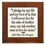 Galt Pledge Framed Tile