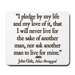 Galt Pledge Mousepad
