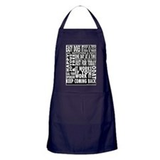12 STEP SLOGANS Apron (dark)