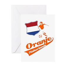 Dutch soccer Greeting Card