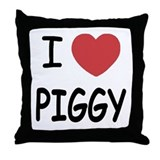 I heart Piggy Throw Pillow