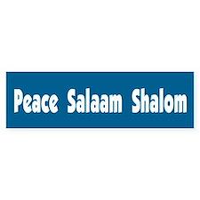 Peace Salaam Shalom Bumper Bumper Sticker
