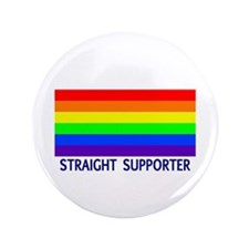 "Straight Supporter 3.5"" Button (100 pack)"