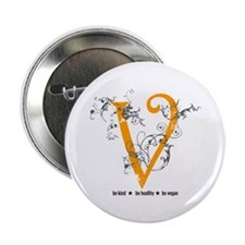"Be vegan 2.25"" Button (100 pack)"