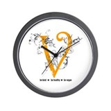 Be vegan Wall Clock