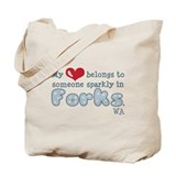 My Heart Sparkly Forks Tote Bag