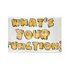 Whats Your Function Orange on Rectangle Magnet (10