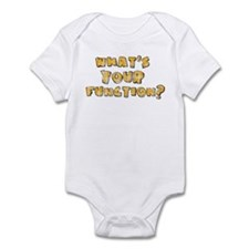 Whats Your Function Orange on Infant Bodysuit