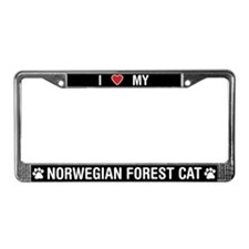 I Love My Norwegian Forest Cat License Plate Frame