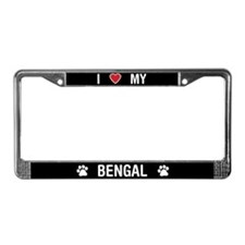 I Love My Bengal Cat License Plate Frame