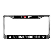 ILove My British Shorthair Cat License Plate Frame