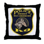 West Conshohocken Police K9 Throw Pillow