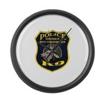 West Conshohocken Police K9 Large Wall Clock
