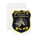 West Conshohocken Police K9 Greeting Card