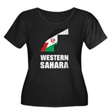 Western Sahara Women's Plus Size Scoop Neck Dark T