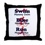 Triathlon Mommy Throw Pillow