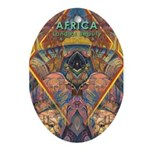 Africa.1 Land of Beauty Oval Ornament
