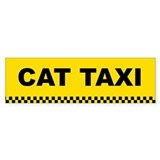 Cat Taxi Bumper Bumper Sticker