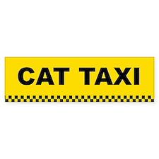 Cat Taxi Bumper Bumper Sticker