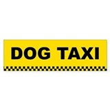 Dog Taxi Bumper Bumper Sticker
