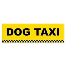 Dog Taxi Bumper Car Sticker