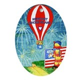 July 4th Newport RI Ornament (Oval)