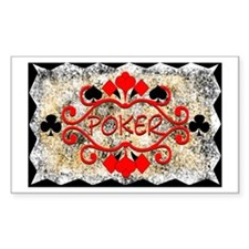 Poker Design Rectangle Decal