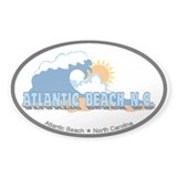Atlantic Beach NC - Waves Design Decal