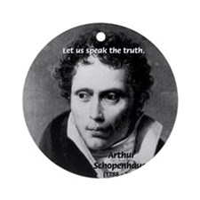 Speaking Truth, Schopenhauer Ornament (Round)