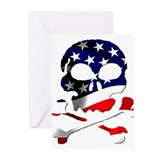 4th of July Skull Greeting Cards (Pk of 20)