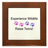 Experience Wildlife Raise Twins Framed Tile