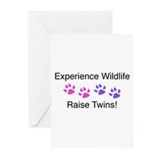 Experience Wildlife Raise Twins Greeting Cards (Pk