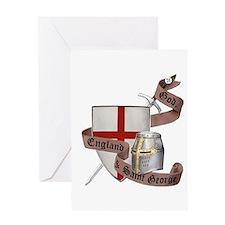 England and Saint George Greeting Card