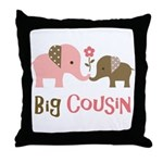 Big Cousin - Elephant Throw Pillow