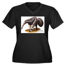 Giant Anteater Women's Plus Size V-Neck Dark T-Shi