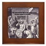 Beginning of Wisdom Socrates Framed Tile