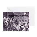 Beginning of Wisdom Socrates Greeting Cards (Packa