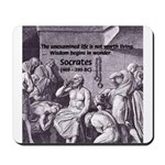 Beginning of Wisdom Socrates Mousepad