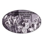 Beginning of Wisdom Socrates Oval Sticker