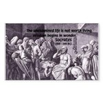 Beginning of Wisdom Socrates Rectangle Sticker