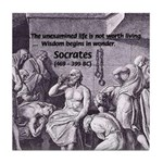 Beginning of Wisdom Socrates Tile Coaster