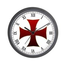Templar Cross Wall Clock